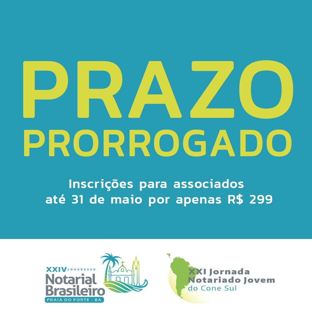 Inscrições com desconto para o XXIV Congresso Notarial Brasileiro são prorrogadas até 31 de maio