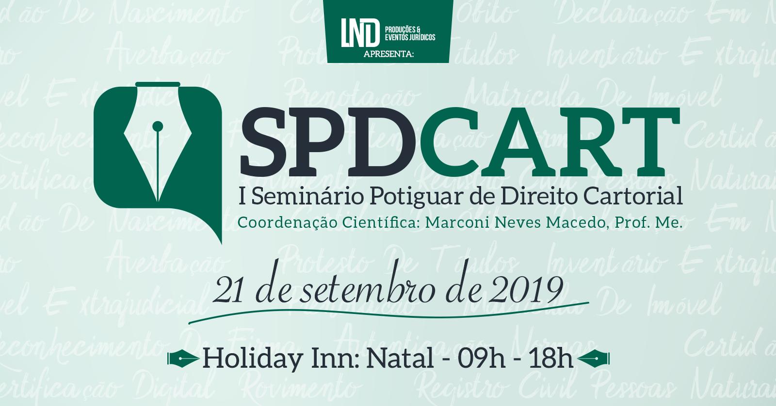 Colégio Notarial do Brasil divulga I Seminário Potiguar de Direito Cartorial